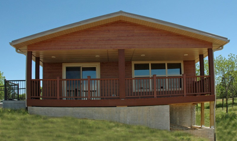 Cabin at West Lake Park.